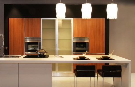Modern kitchen cabinets with Zebra flat doors